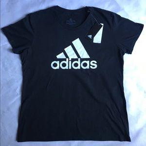 Adidas shirt NEW size X Large black logo T woman's